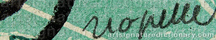 Signature by Jean-Paul RIOPELLE