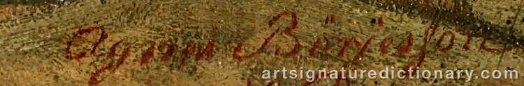 Signature by Agnes BÖRJESSON
