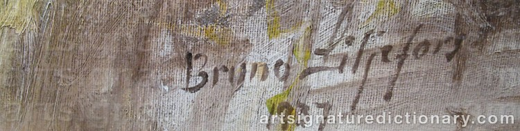 Forged signature of Bruno LILJEFORS