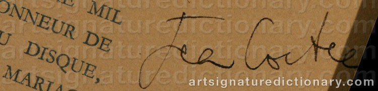 Signature by Jean COCTEAU