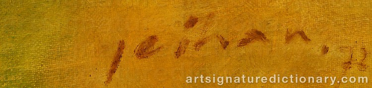 Forged signature of Sukmantara JEIHAN