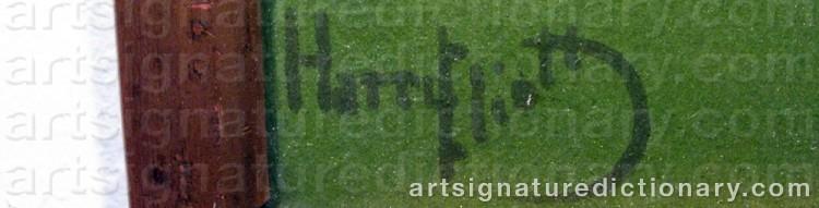 Signature by Charles Edmond 'Harry Eliott' HERMET