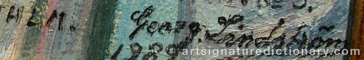 Signature by Georg LINDSTRÖM