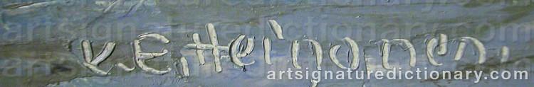 Signature by Kurt-Erik HEINONEN