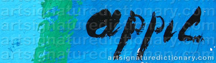 Signature by Karel APPEL