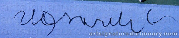 Forged signature of Victor VASARELY