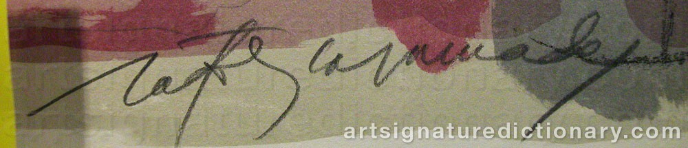 Signature by Albert Rafols CASAMADA