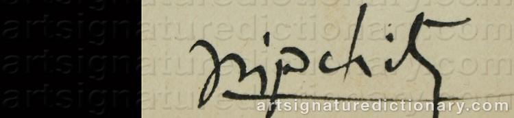 Signature by Jacques LIPCHITZ