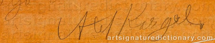 Signature by Axel KARGEL