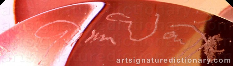 Signature by Göran WÄRFF