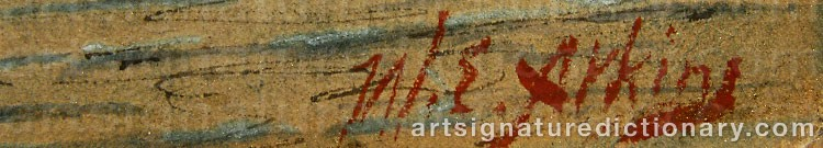 Signature by William Edward ATKINS
