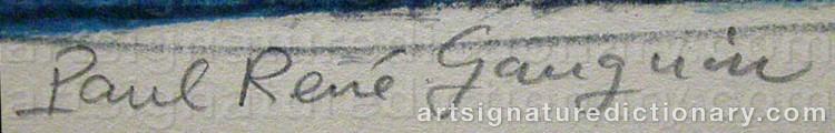 Signature by Paul René GAUGUIN