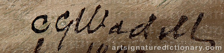 Signature by Carl Gabriel WADELL