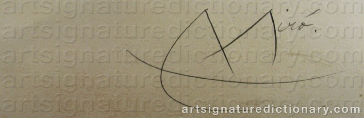 Signature by Joan MIRO