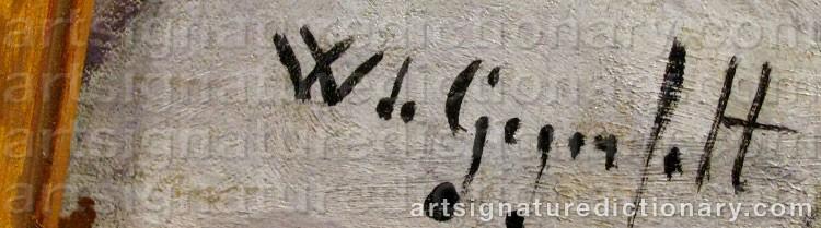 Signature by Wilhelm Von GEGERFELT