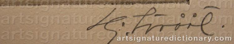 Signature by Hjalmar STRÅÅT