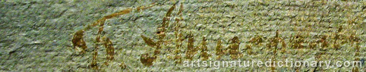 Signature by Boris Israelovich ANISFELD