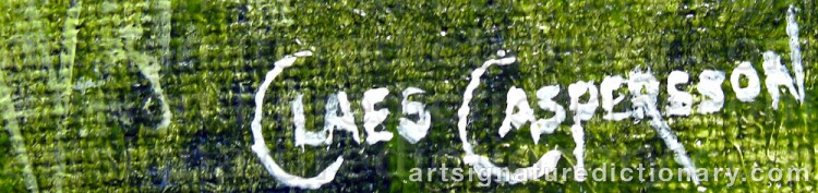 Signature by Claes CASPERSSON