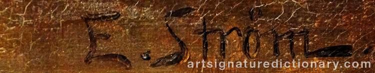 Signature by Elsa STRÖM-CIACELLI