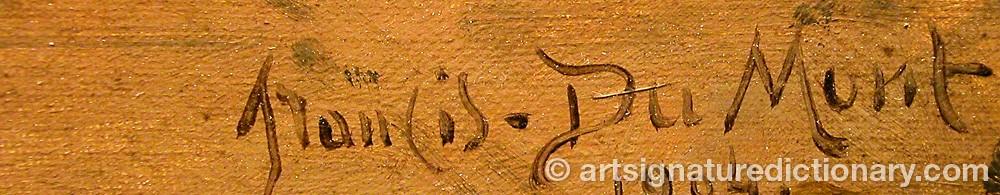 Signature by Francois DUMONT