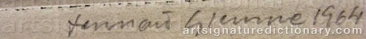 Signature by Lennart GLEMME