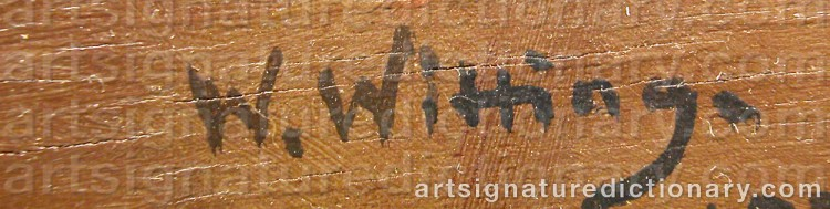 Signature by Walter Günther J. WITTING