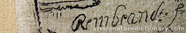 Signature by Rembrandt Harmenszoon Van RIJN