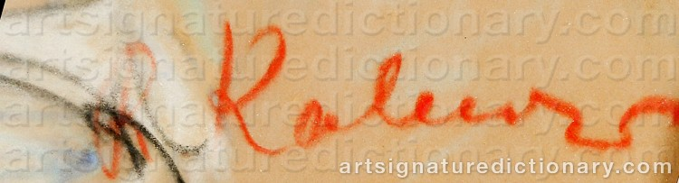 Signature by Reinhold KALNINS