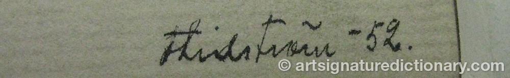 Signature by F LINDSTRÖM