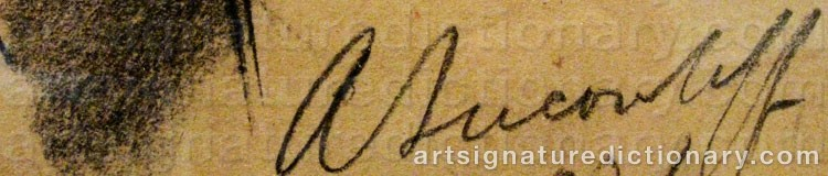 Signature by Alexander Evgenevich IACOVLEFF