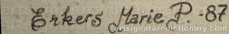 Signature by Marie PERSSON