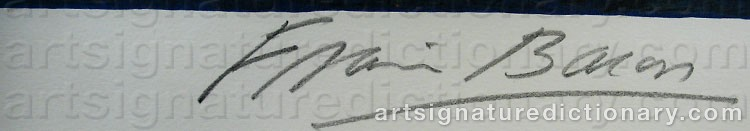 Signature by Francis BACON