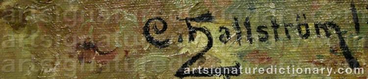 Signature by Carl HALLSTRÖM