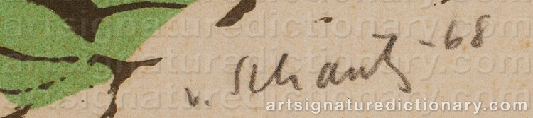Signature by Philip Von SCHANTZ
