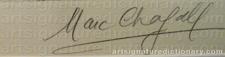 Signature by Marc CHAGALL