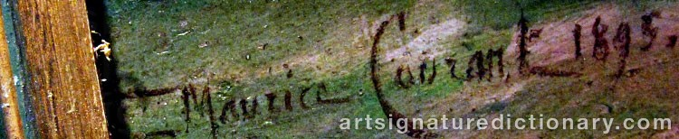 Signature by Maurice François A. COURANT