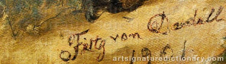 Forged signature of Fritz Von DARDEL