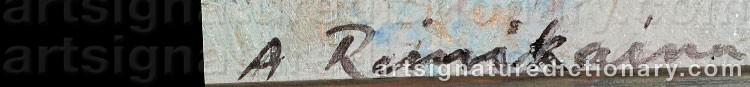Signature by Arvo REINIKAINEN