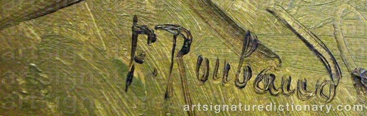 Signature by Franz Alexeivich ROUBAUD