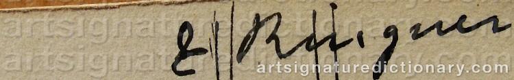 Signature by Karl Enoch RINGNÉR
