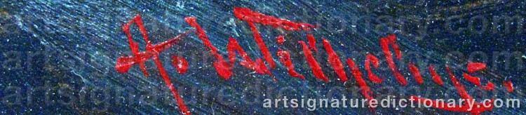 Signature by Alexander WILHELMS