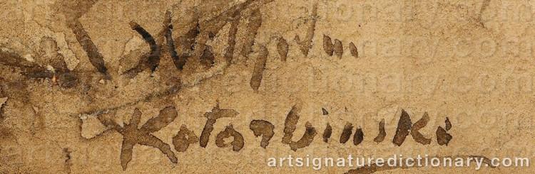 Signature by Vasily Alexandrovich KOTARBINSKY