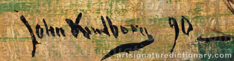 Signature by Johan 'John' KINDBORG