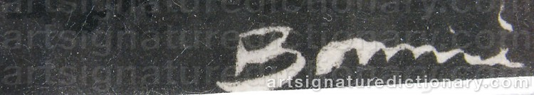 Signature by Olle BONNIÉR