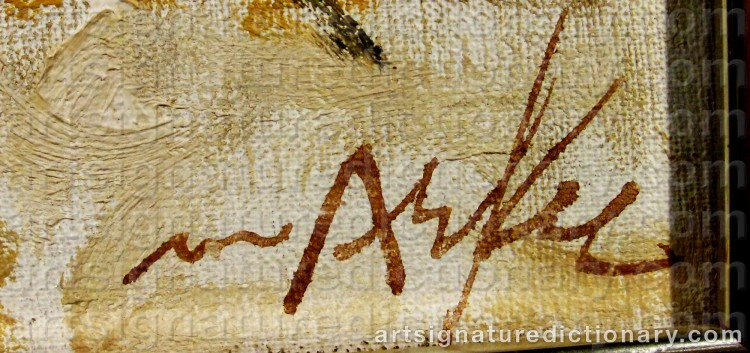 Signature by Adrian Van ARKEL