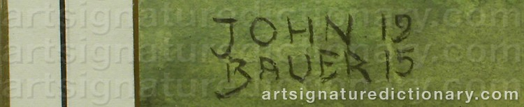 Forged signature of John BAUER