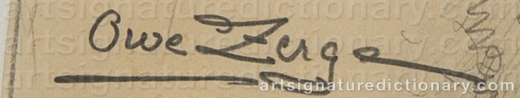 Signature by Owe ZERGE