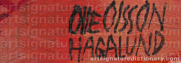 Signature by Olle OLSSON HAGALUND
