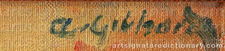 Signature by Albert GEBHARD