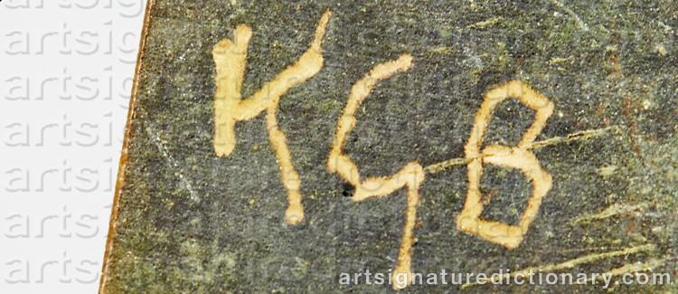 Signature by Karl Göte 'Kgb' BEJEMARK